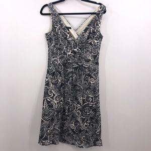 Lands' End Paisley Print Sleeveless Dress